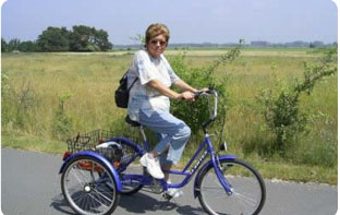 Faire du sport avec un tricycle